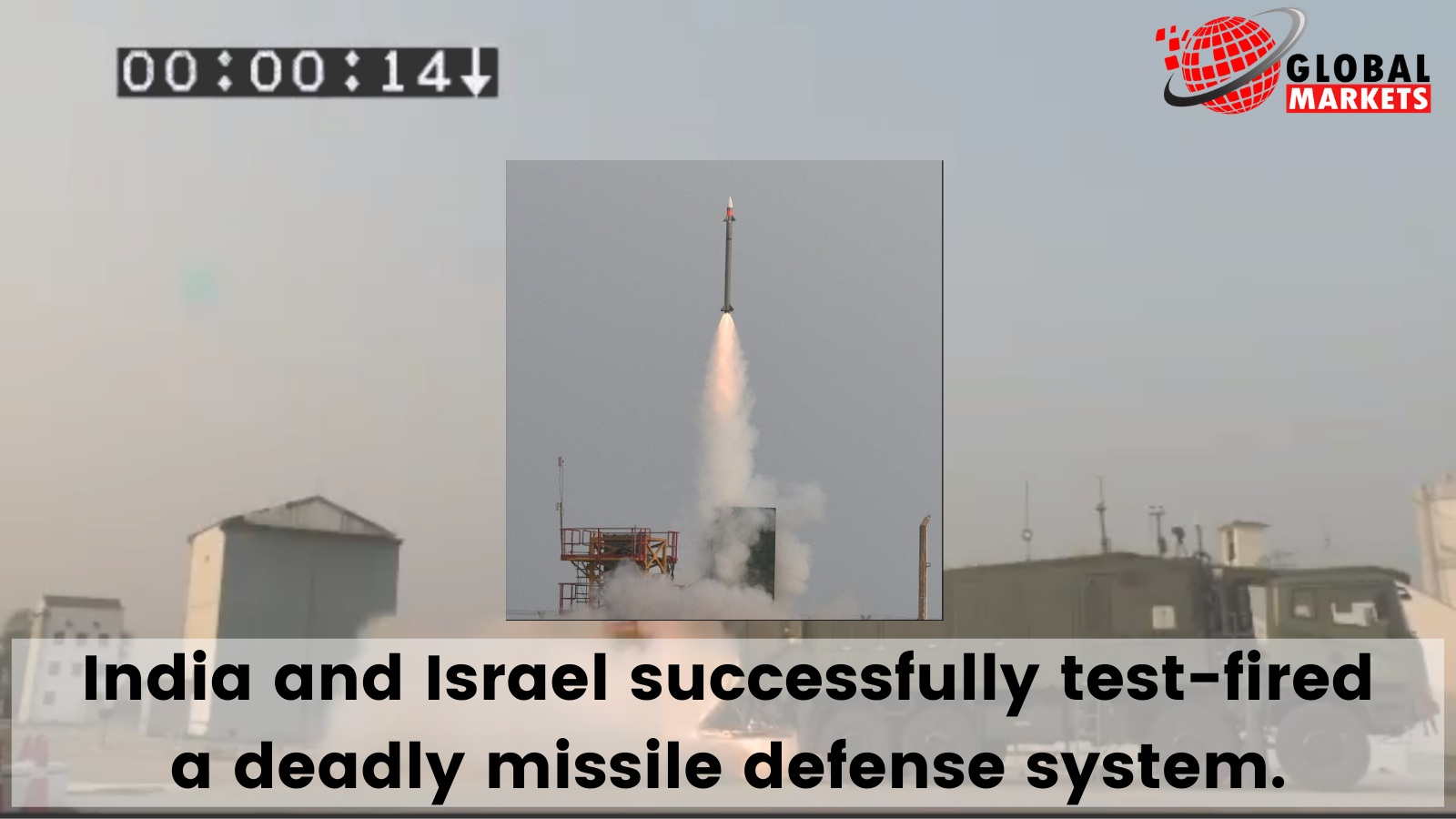 India-Israel jointly test-fires deadly missile defense system.