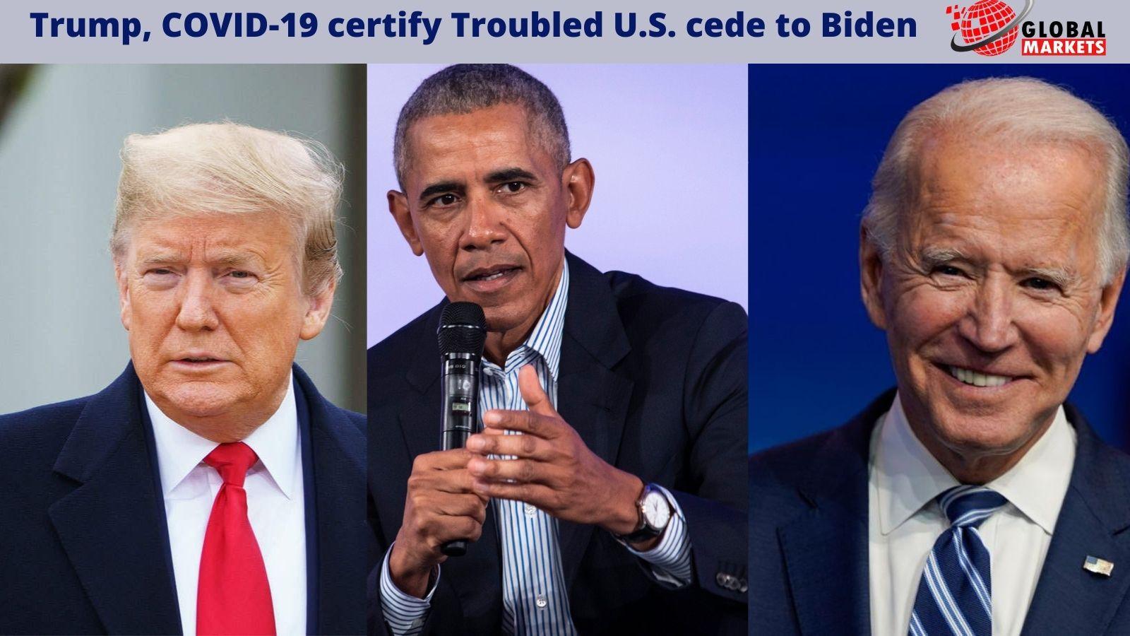 Trump, COVID-19 certify troubled U.S. cede  to Biden