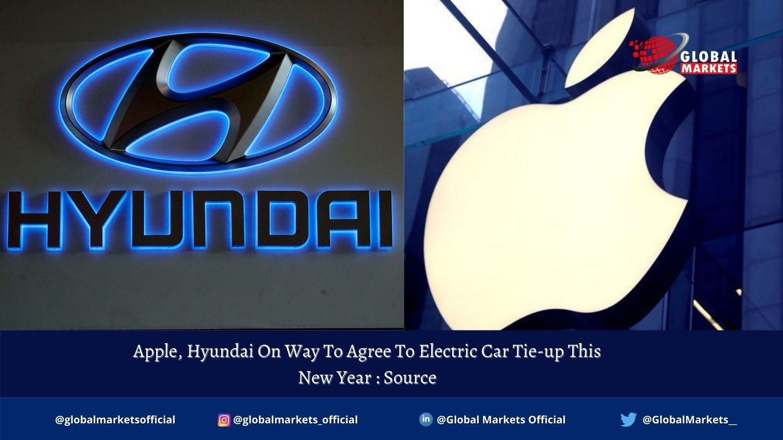Apple, Hyundai On Way To Agree To Electric Car Tie-up This New Year : Source