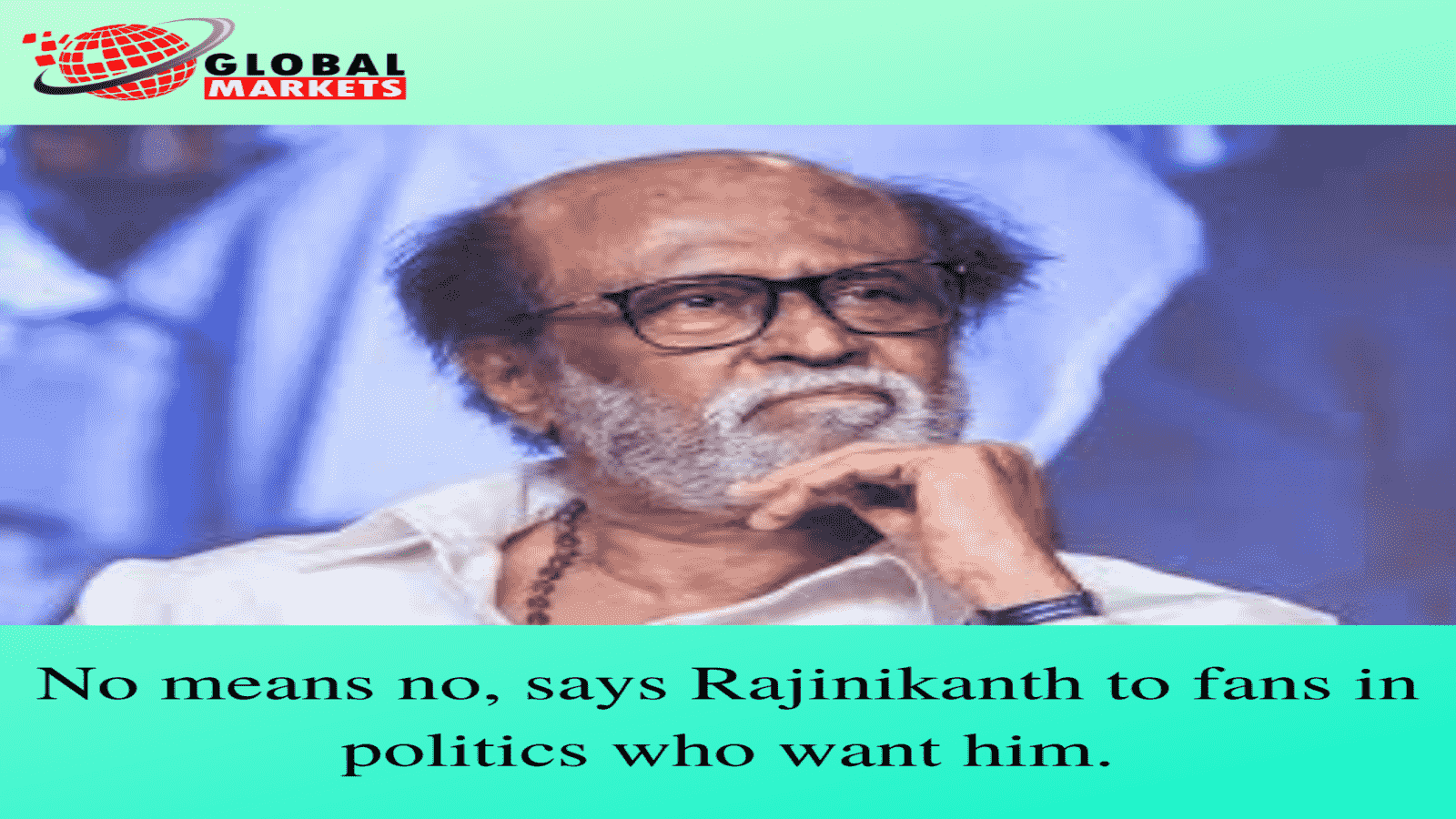 No means no, says Rajinikanth to fans in politics who want him.