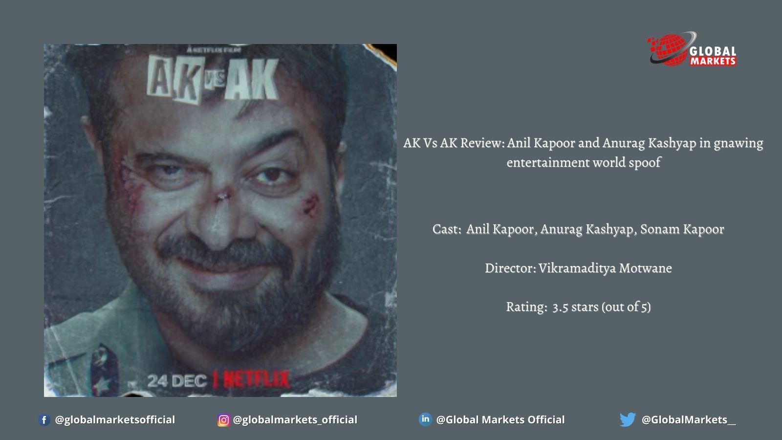 AK Vs AK Review : Anil Kapoor and Anurag Kashyap in gnawing entertainment world spoof