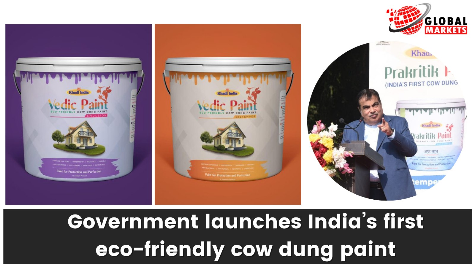 Government launches India's first eco-friendly cow dung paint