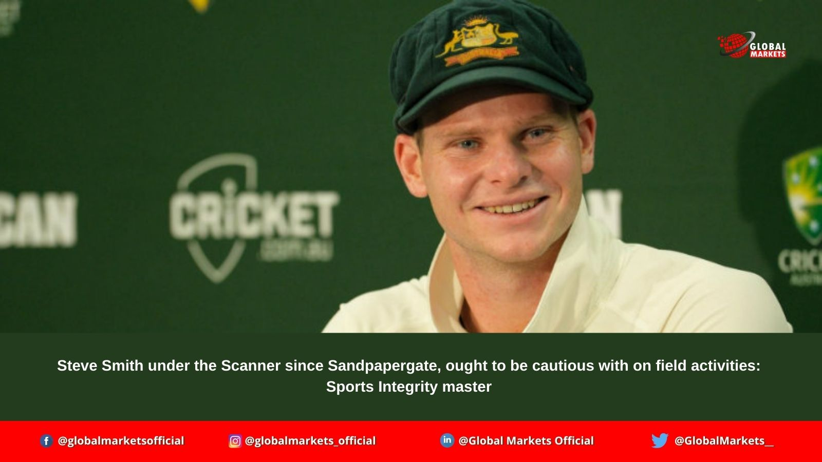 Steve Smith under the Scanner since Sandpapergate, ought to be cautious with on field activities