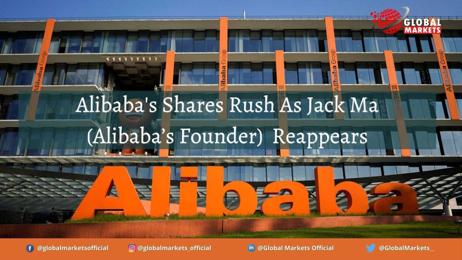 Alibaba's Shares Rush As Jack Ma (Alibaba's Founder) Reappears