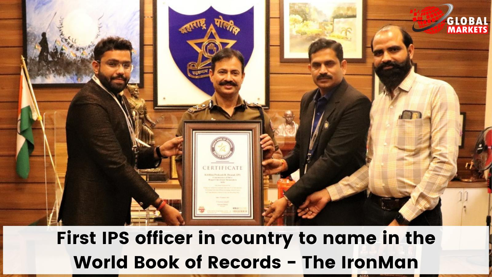 First IPS officer in-country to name in the World Book of Records