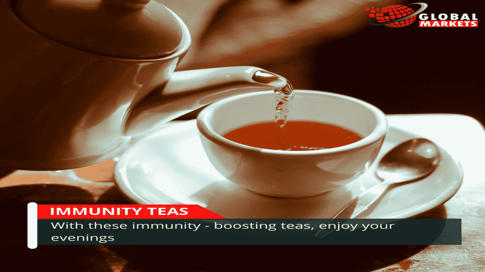 With these immunity-boosting teas, enjoy your evenings