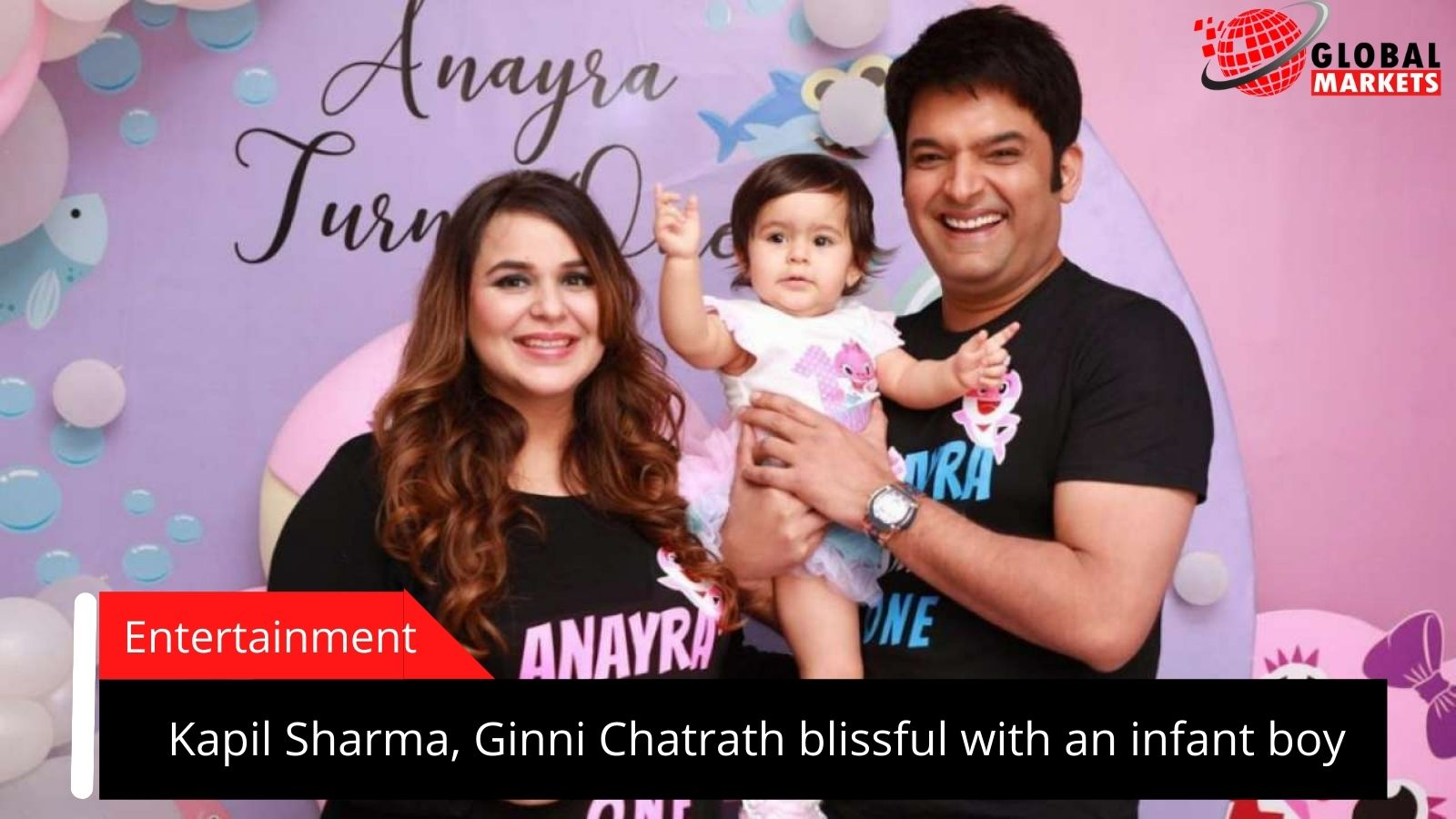 Kapil Sharma, Ginni Chatrath blissful  with an infant boy