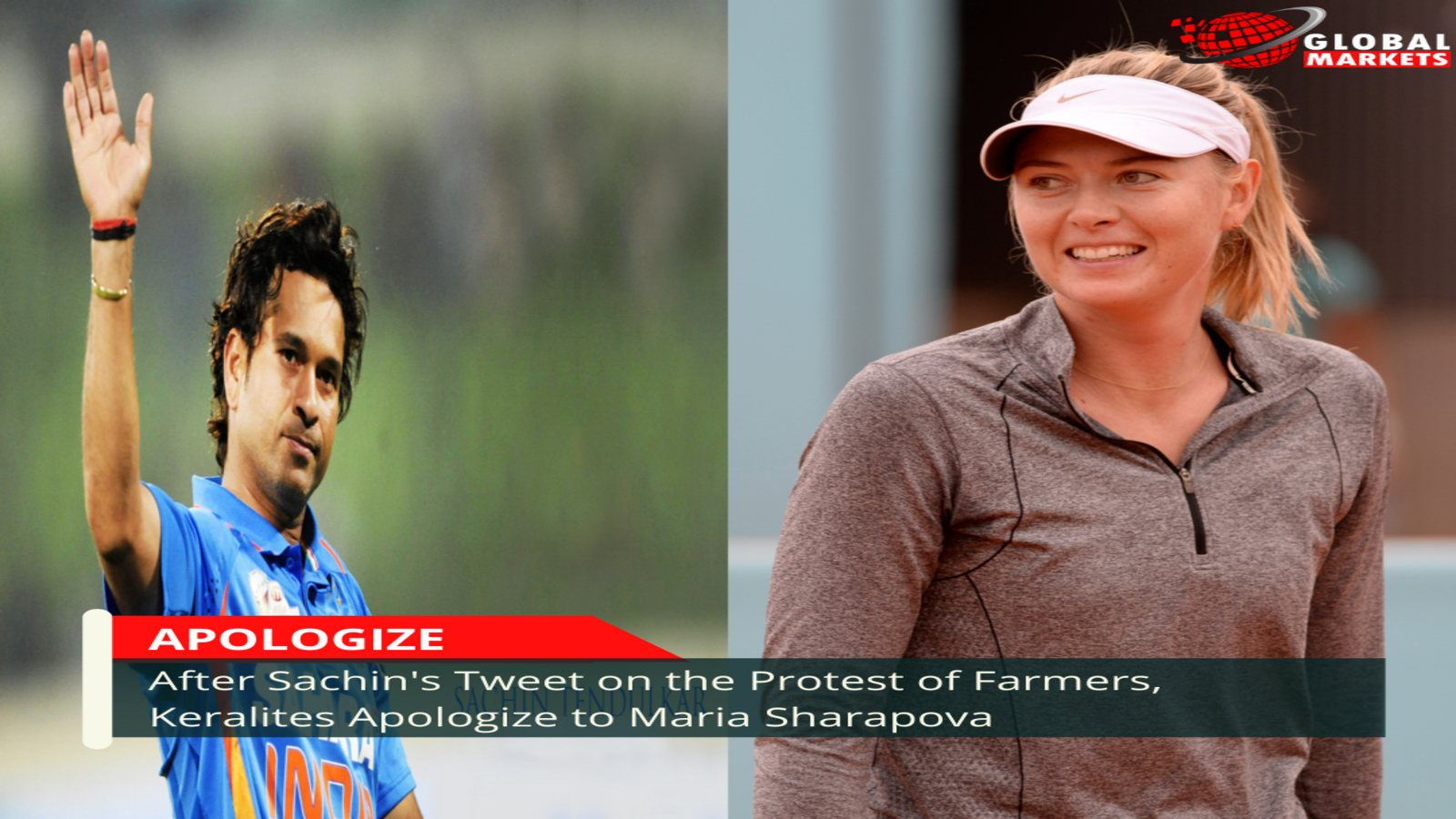 After Sachin's Tweet on the Protest of Farmers, Keralites Apologize to Maria Sharapova