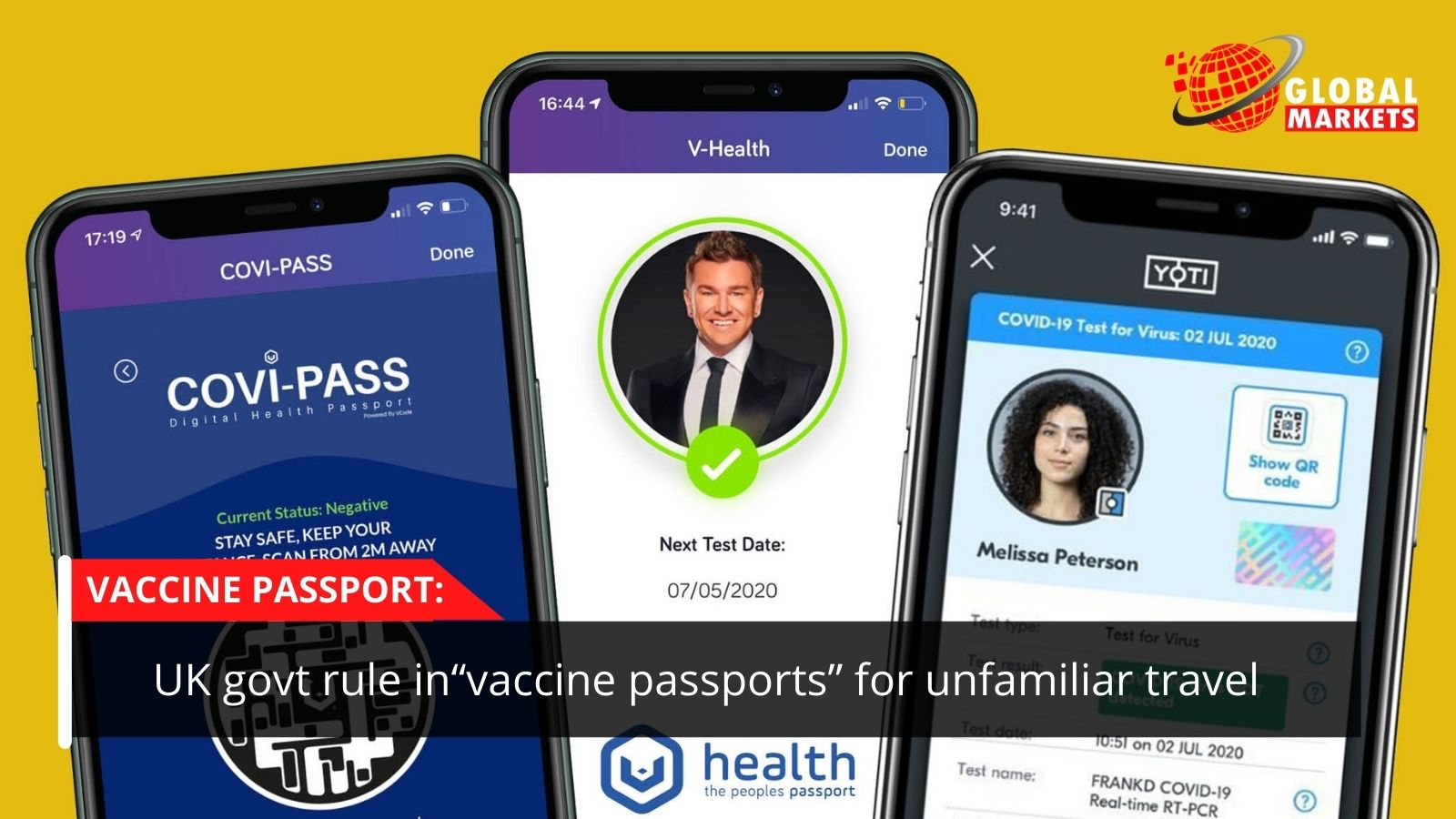 "UK govt precludes ""vaccine passports"" for unfamiliar travel"