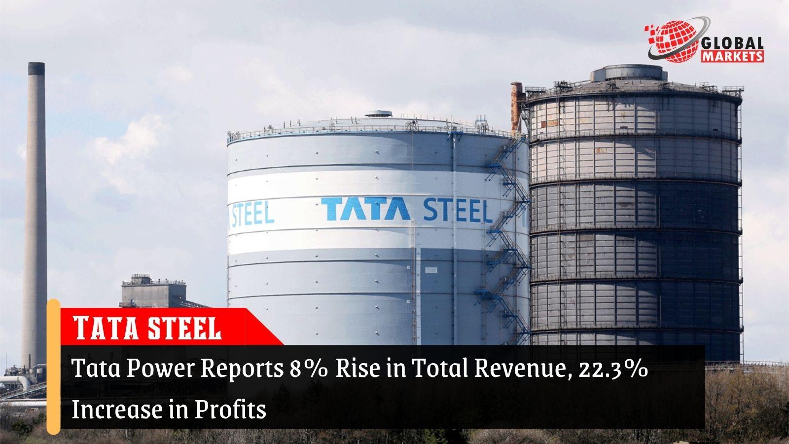 Tata Power Reports 8% Rise in Total Revenue, 22.3% Increase in Profits
