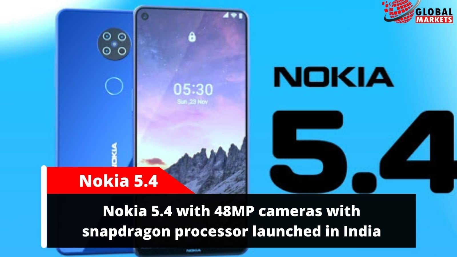 Nokia 5.4 with 48MP cameras with snapdragon processor launched in India