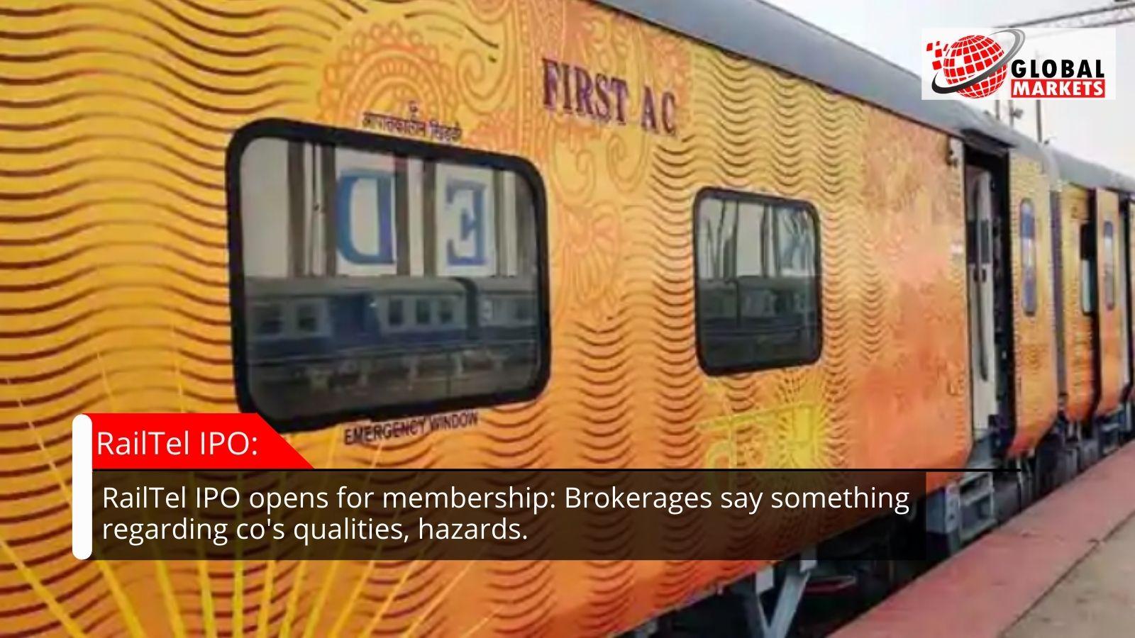 RailTel IPO opens for membership: Brokerages say something regarding co's qualities, hazards.
