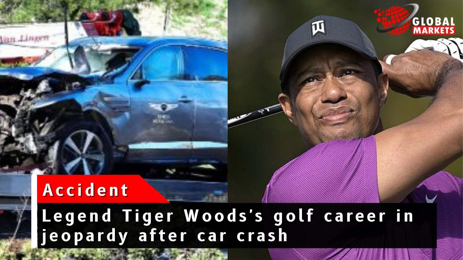 The Legendary Golf Star Tiger woods suffers leg injury in Jeopardy car crash.