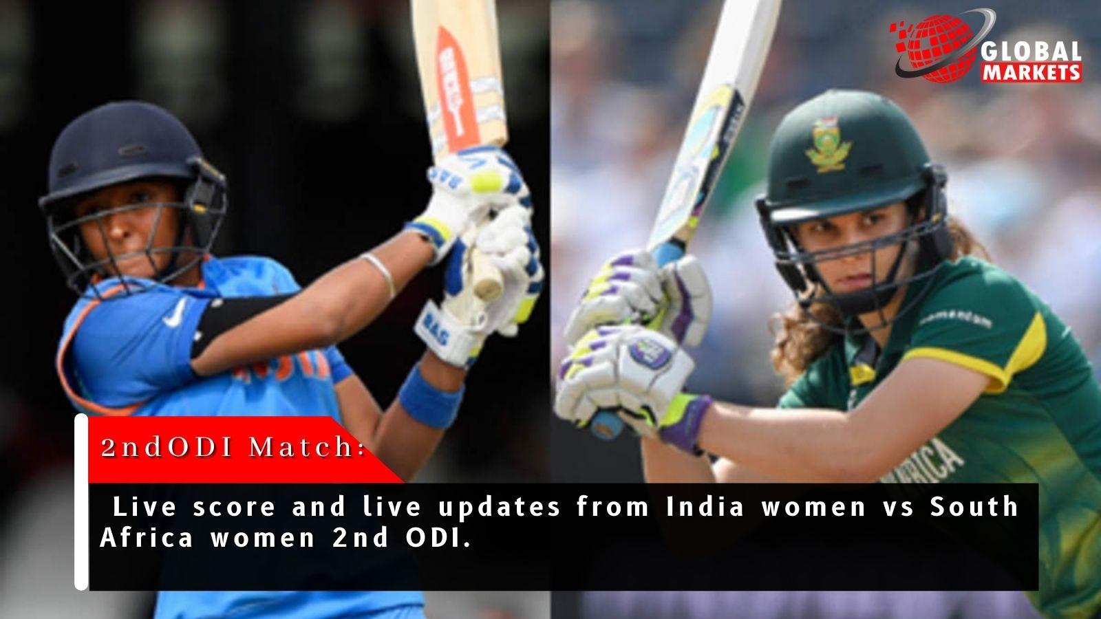 Indian Women vs South African Women Live Cricket Score 2nd ODI.