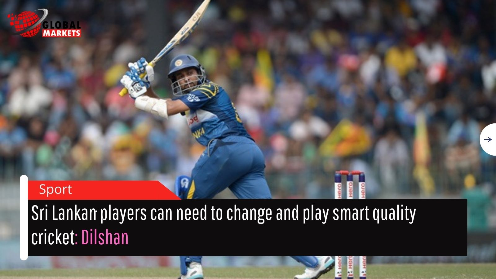Sri Lankan players can need to change and play smart quality cricket: Dilshan