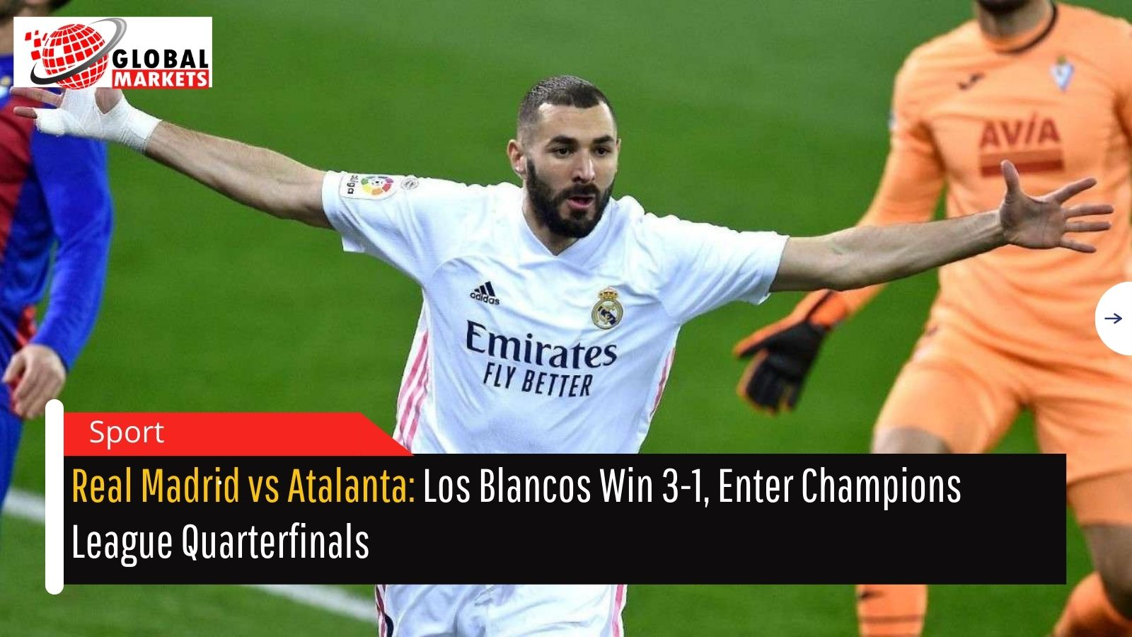 Real Madrid vs Atalanta: Los Blancos Win 3-1, Enter Champions League Quarterfinals