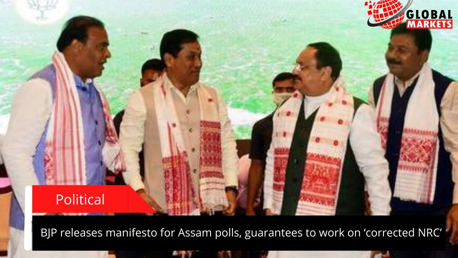 BJP releases manifesto for Assam polls, guarantees to work on 'corrected NRC'