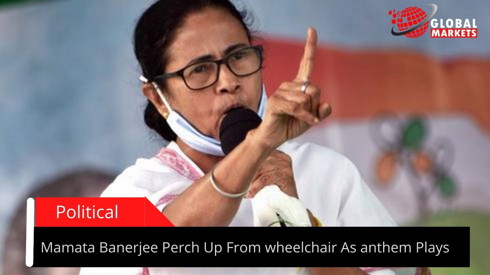 Mamata Banerjee Perch Up From wheelchair As anthem Plays