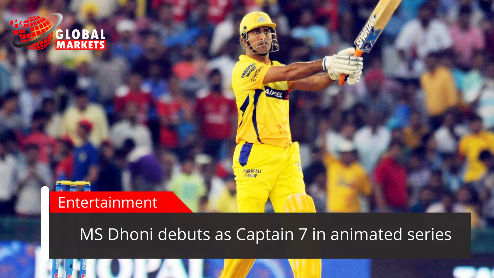 MS Dhoni debuts as Captain 7 in animated series