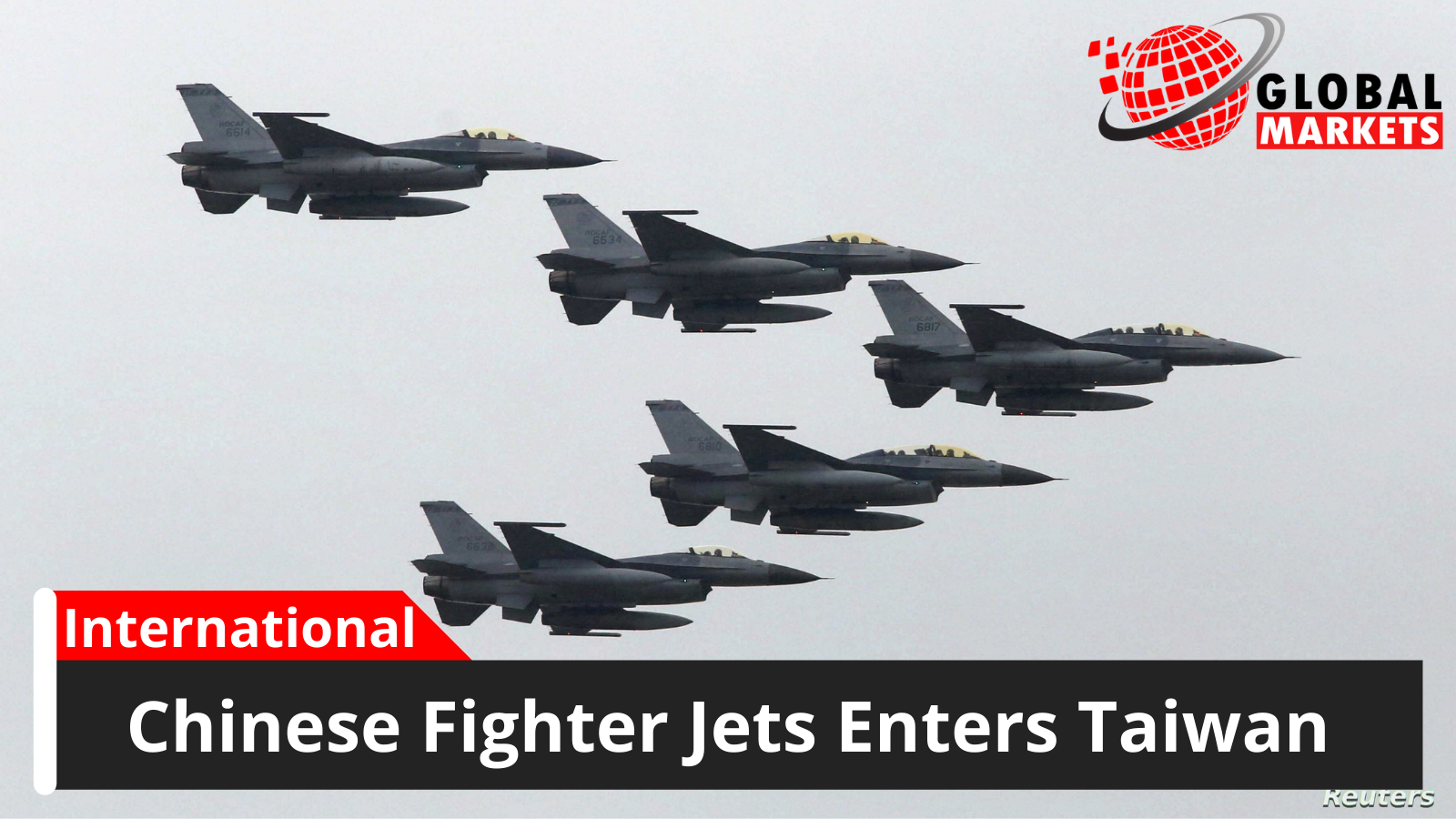 Chinese Fighter Jets Enters Taiwan