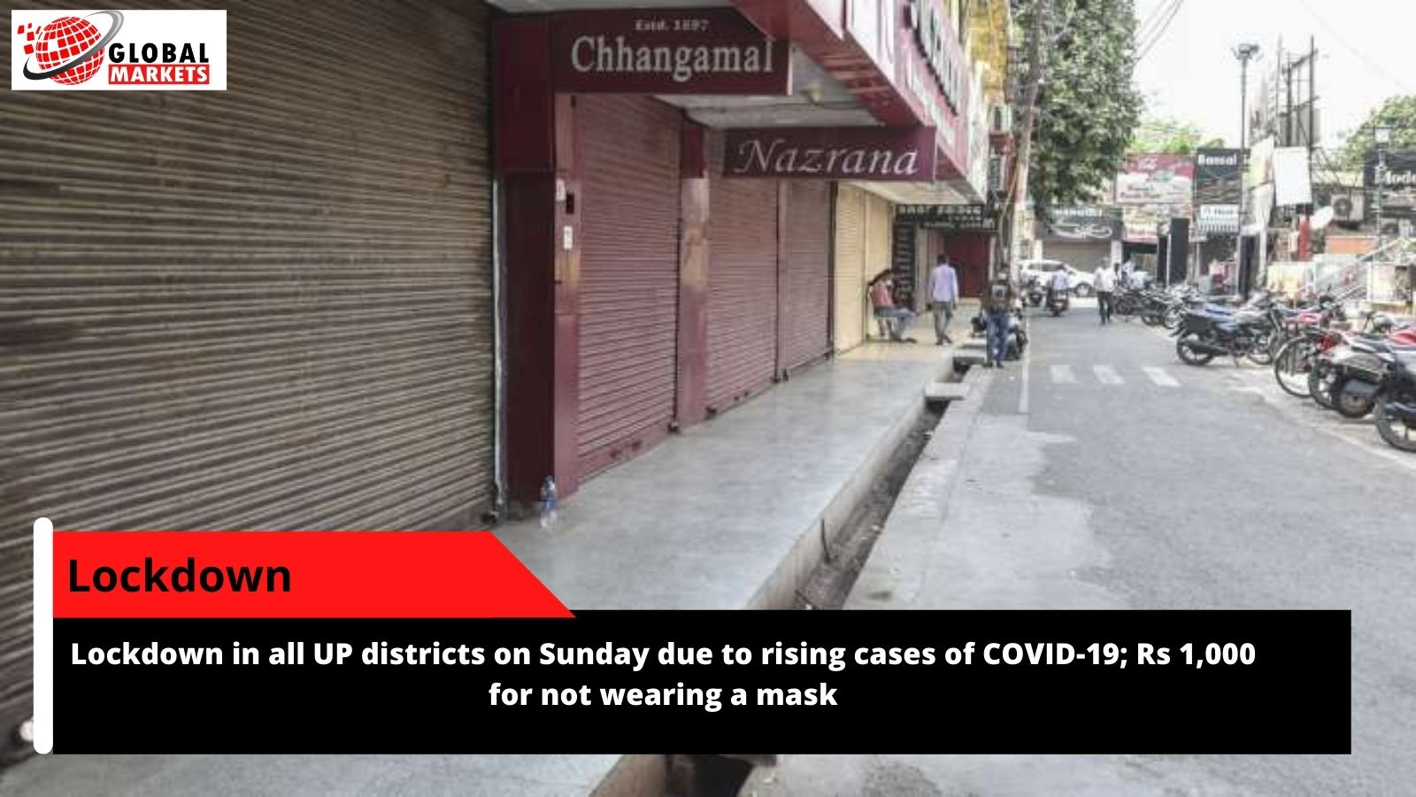 Lockdown in all UP districts on Sunday due to rising cases of COVID-19; Rs 1,000 for not wearing a mask