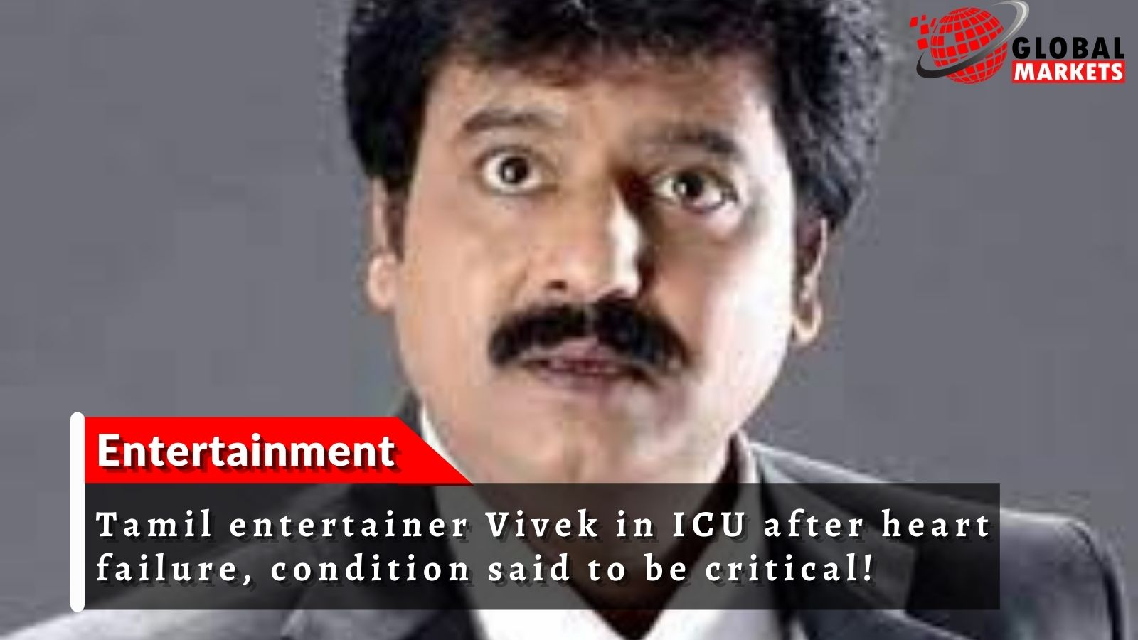Tamil entertainer Vivek in ICU after heart failure, condition said to be critical!