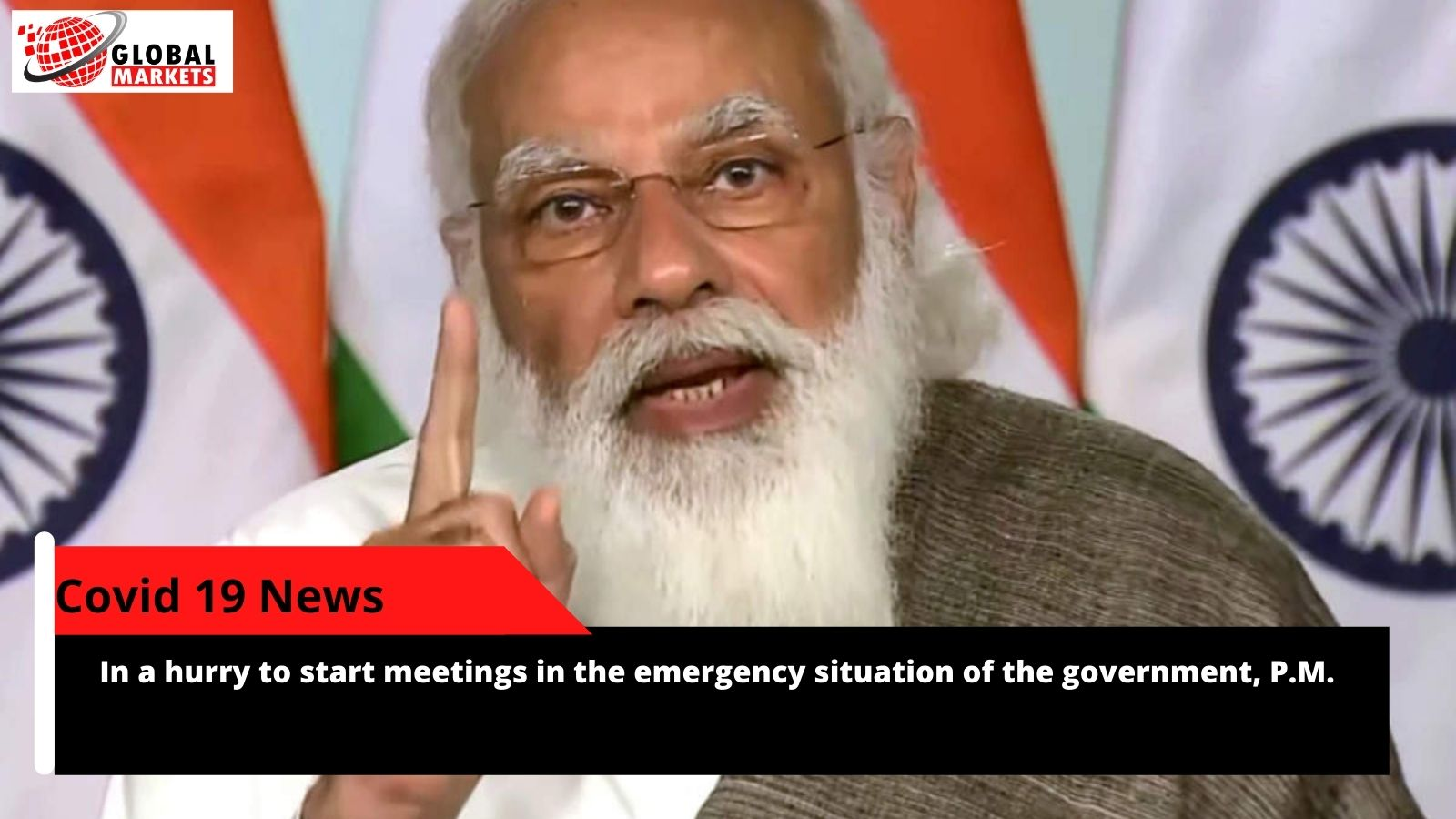 In a hurry to start meetings in the emergency situation of the government, P.M.
