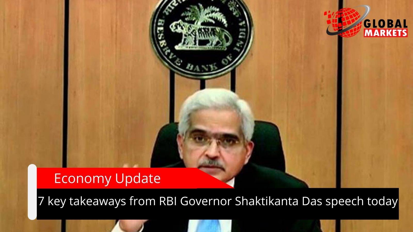 7 key takeaways from RBI Governor Shaktikanta Das speech today