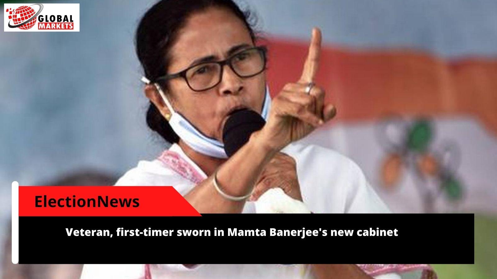 Veteran, first-timer sworn in Mamta Banerjee's new cabinet