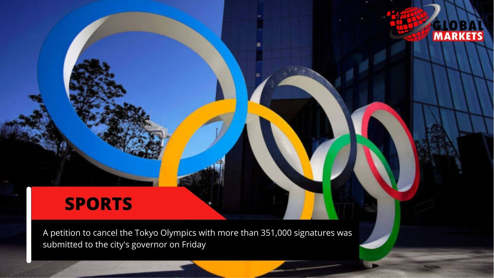 A petition to cancel the Tokyo Olympics was submitted to the city's governor