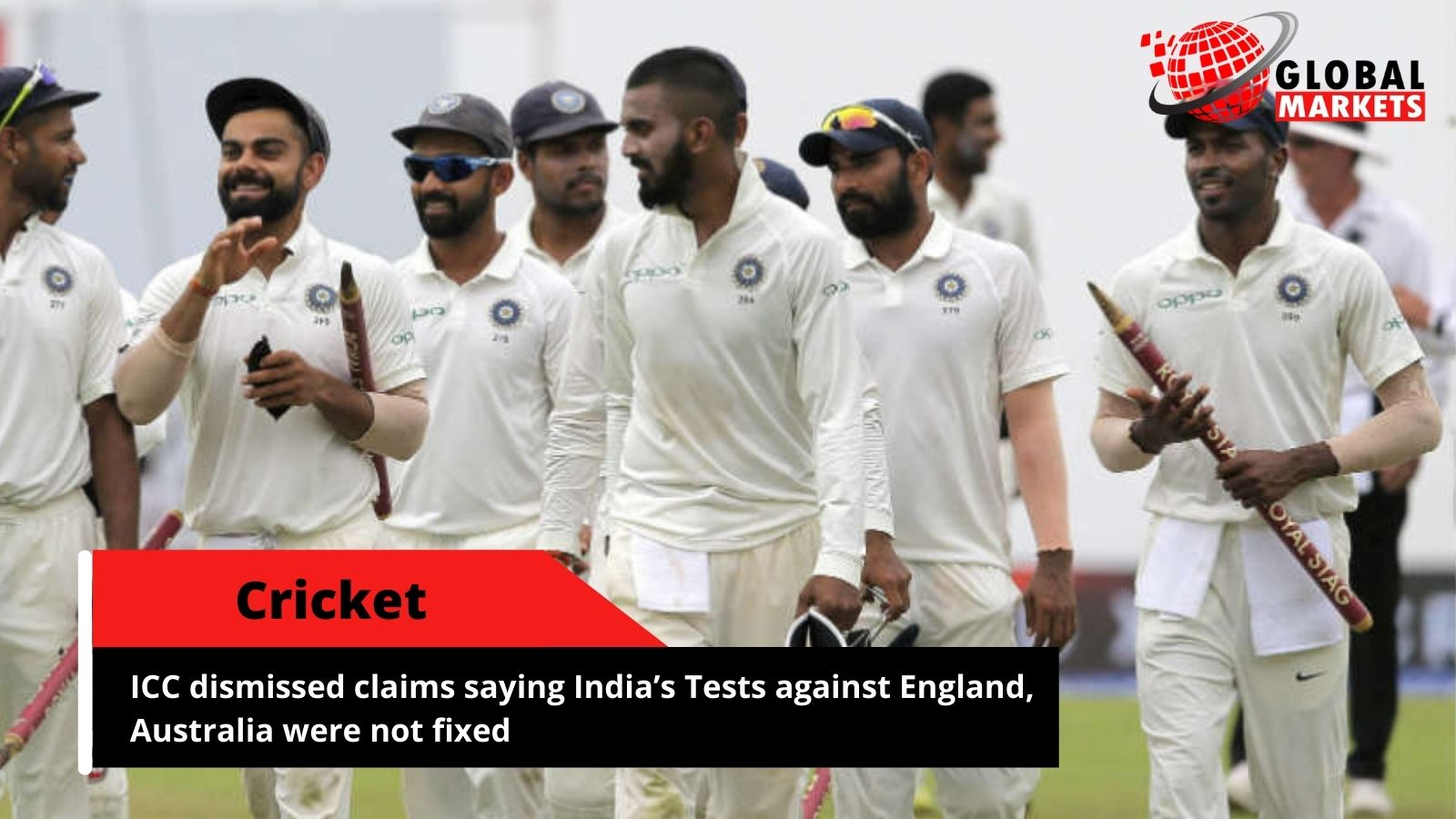 ICC dismissed claims saying India's Tests against England, Australia were not fixed