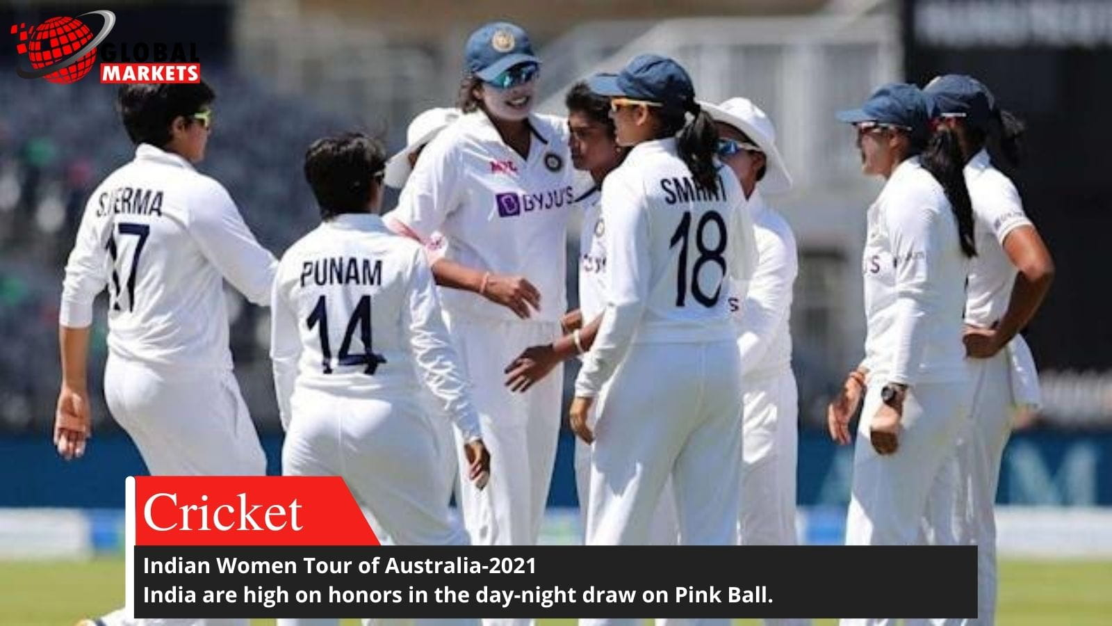 Indian Women Tour of Australia-2021, First  Day-night Test  draw.